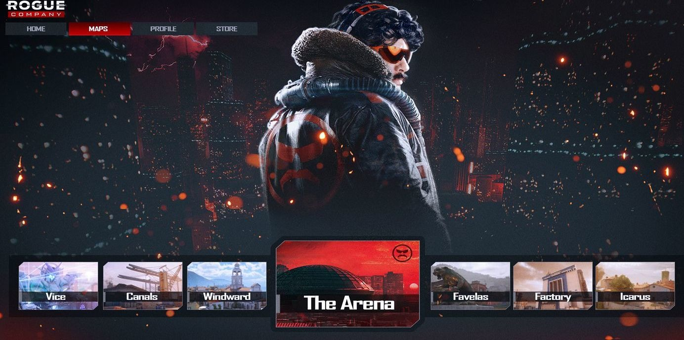 Dr Disrespect Designs Rogue Company Map Called The Arena