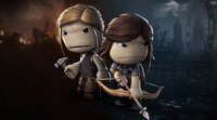 Cosplay as Ellie and Abby in Sackboy...
