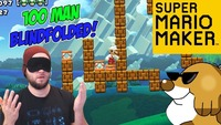 super mario maker: Super Mario Maker - The 100 Man Blindfolded Challenge! [#24]