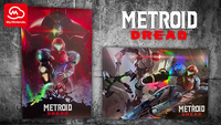 US Metroid Dread holographic poster...