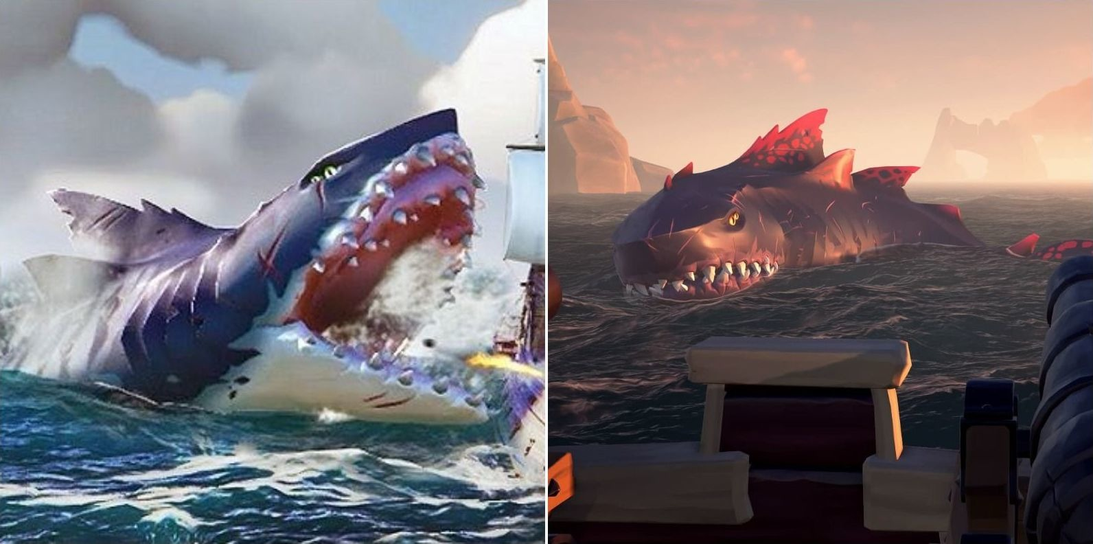 Sea Of Thieves Every Type Of Megalodon And How To Defeat