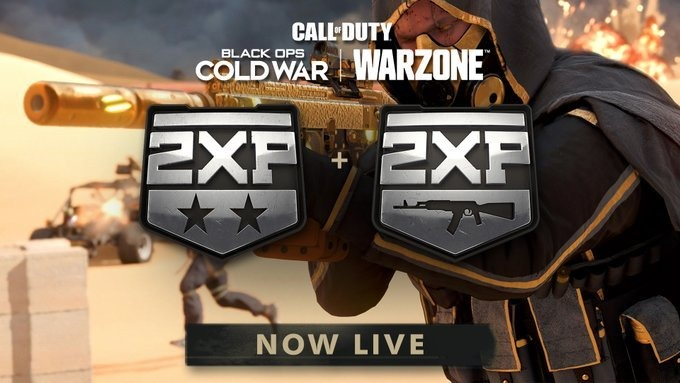 Black Ops Cold War and Warzone 2XP Weekend Running Now