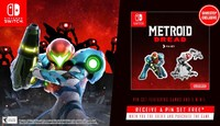 US Metroid Dread preorders from GameStop include a free pin set