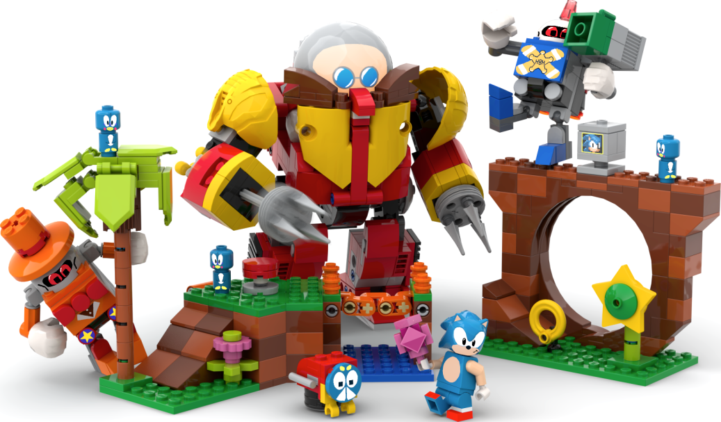 Fan designed Sonic the Hedgehog LEGO set will be released in collaboration with SEGA