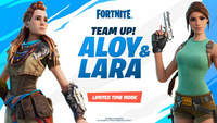 Fortnite Lara Croft and Aloy Team...