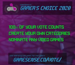 Announcing GameSense Gamers Choice...