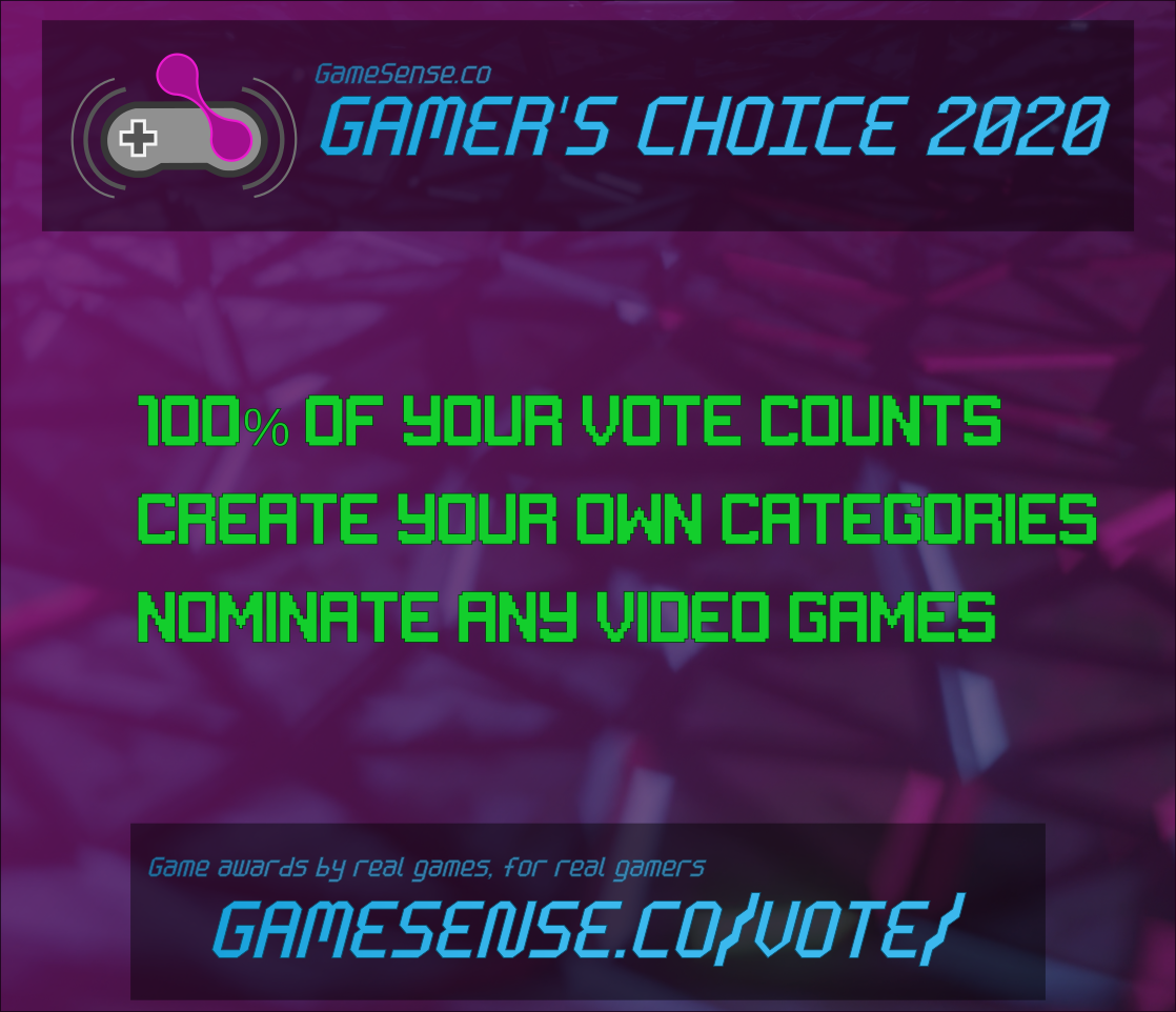 Announcing GameSense Gamers Choice Awards 2020