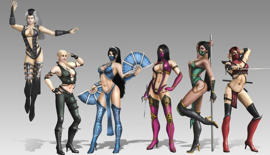mortal kombat girls   Two of the female characters from